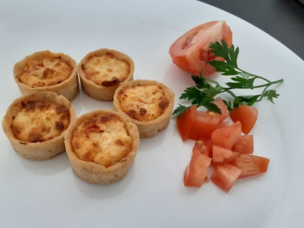 Mini quiche queijo